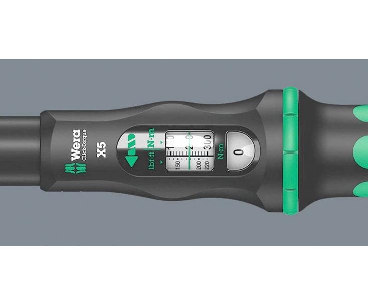 Динамометрический ключ Wera Click-Torque X 6 80-400 Nm для сменных насадок WE-075656