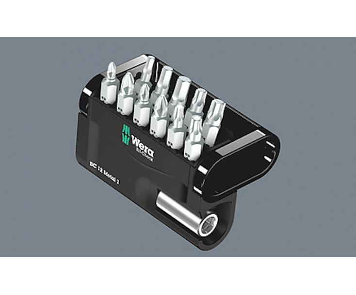 Bit-Check 12 Metal 1 SB Набор насадок (PH, PZ, TX, HEX-Plus) и держатель Wera WE-136393
