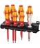 Набор отверток VDE + индикатор напряжения + подставка Wera Kraftform 160 i/7 Rack WE-006147