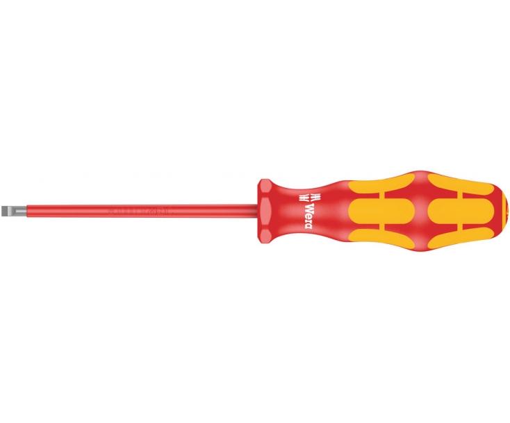 Отвертка Wera Kraftform 160 i VDE WE-006125 1.2 x 6.5 x 150 изолированная шлицевая