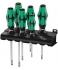Набор отверток SL PH Wera Kraftform Plus Lasertip 334/6 Rack WE-105650 + подставка