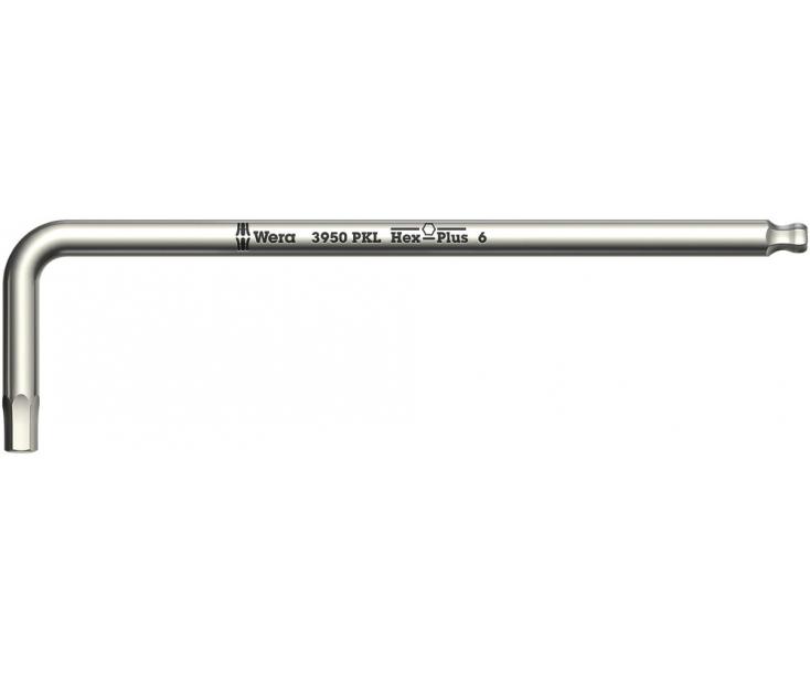 Г-образный ключ Wera 3950 PKL WE-022700 1.5 х 14 х 90 метрический нержавеющая сталь