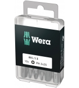 851/1 Z DIY 10 крестовых насадок PH 2 х 25 Wera WE-072401