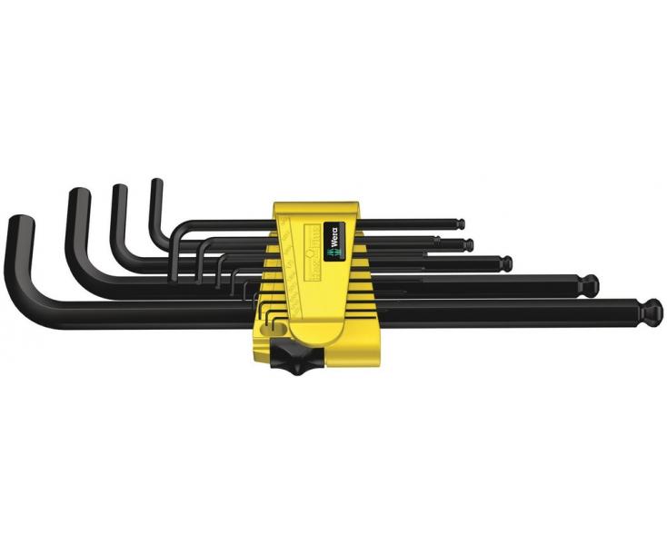Набор Г-образных ключей, дюймовых, Wera 950 PKL/13 SZ N BlackLaser WE-021728
