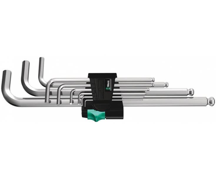 Набор Г-образных ключей, метрических, хромированных Wera 950 PKL/9 SM N WE-022087