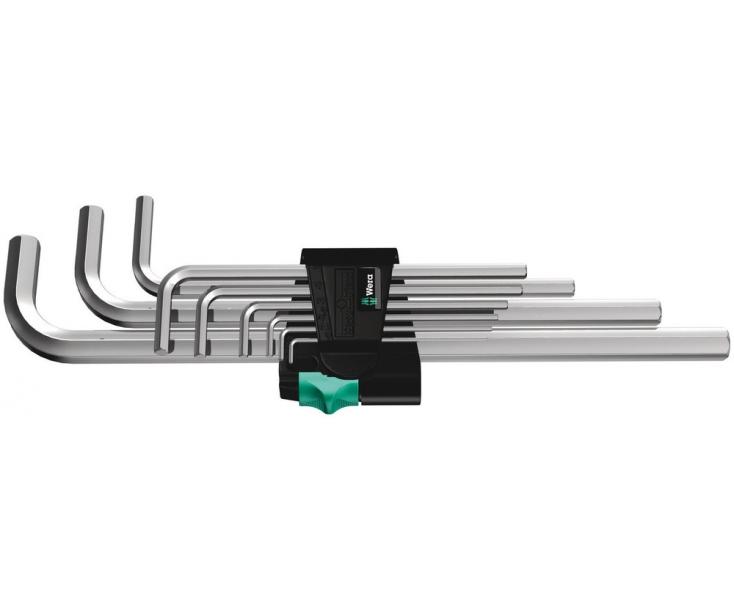 Набор г-образных ключей, метрических, хромированных Wera 950 L/9 SM N WE-021909