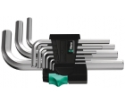 Набор Г-образных ключей, метрических, хромированных Wera 950/9 SM N WE-021406