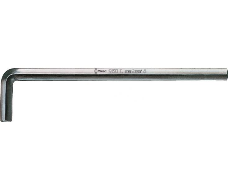 Г-образный ключ 7 мм, метрический, хромированный Wera 950 L WE-021632