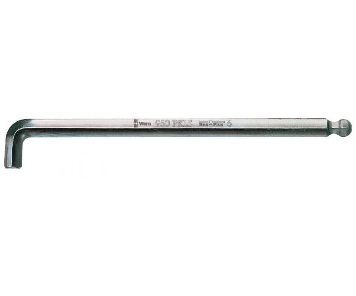 Г-образный ключ 10 мм, метрический, хромированный Wera 950 PKLS WE-022048