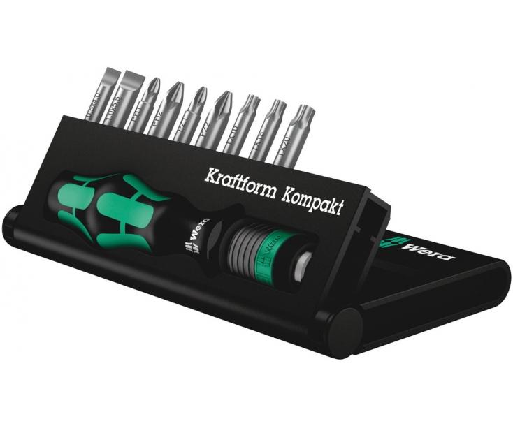 Kraftform Kompakt 10 Набор с битами (PH, PZ, TX, SL), Wera WE-056653