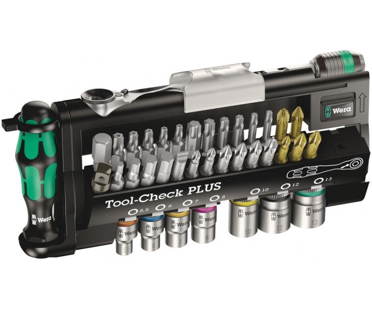 Tool-Check PLUS Набор насадок (SL, PH, PZ, TX, TX BO, HEX) Wera WE-056490