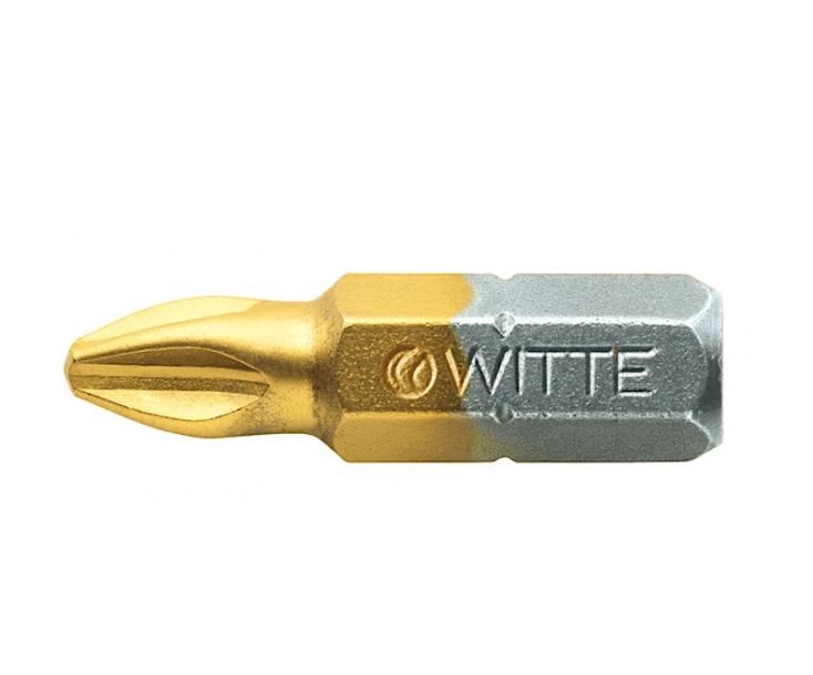 Бита TIN крестовая PH2 х 25 мм Witte 27321