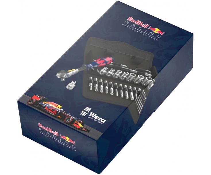 8100 SA 6 Zyklop Speed Red Bull Racing - набор с трещоткой, привод 1/4 Wera WE-227701