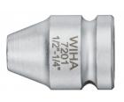 """Адаптер 1/4"""" с пружинным стопорным кольцом Wiha 7001 01924 25 мм"""