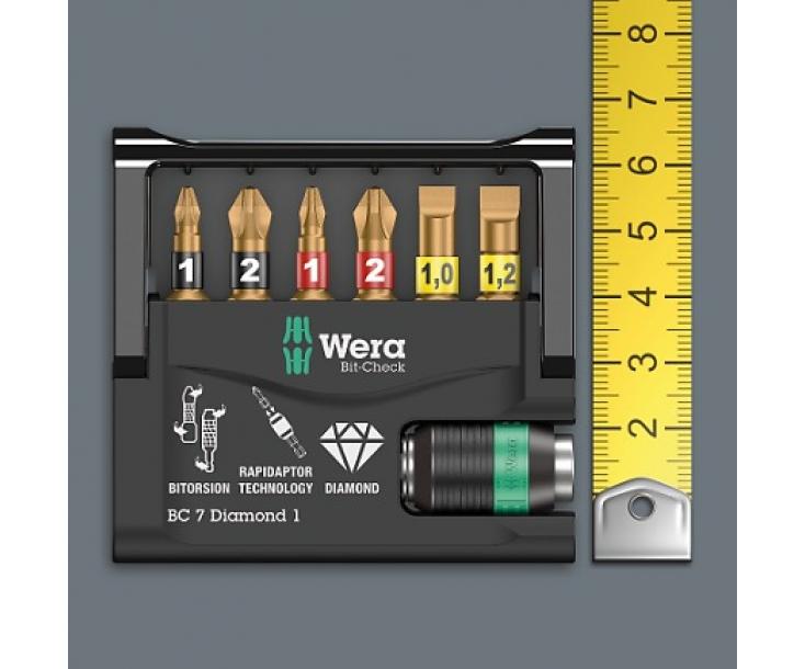 Bit-Check 30 BiTorsion 1 Набор насадок (PH, PZ, TX) и держатель Wera WE-057430