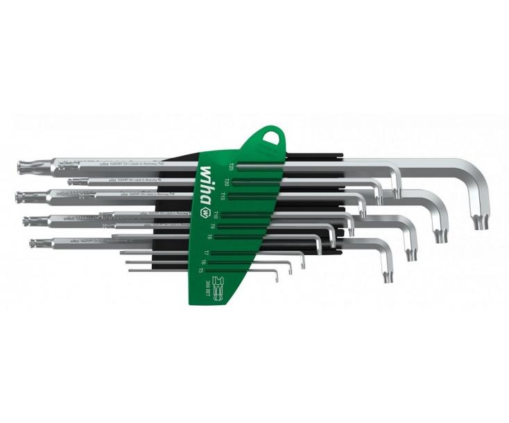 Набор штифтовых ключей TORX со сферической головкой Wiha ProStar 366BET SZ13TS 40979 13 шт. титановое серебро