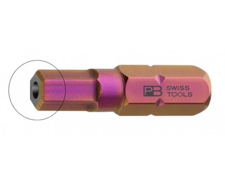 Бита HEX BO PrecisionBits C6,3 с внешним шестигранником 1/4 с отверстием PB Swiss Tools PB C6.210B/5 M5