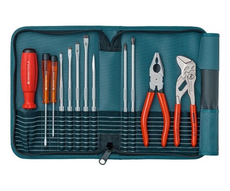 Набор с комбинированными жалами SL PH серии PB 215 PB Swiss Tools PB 8219.PE бирюзовый 12 пр.