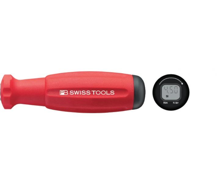 Динамометрическая рукоятка DigiTorque с цифровым дисплеем PB Swiss Tools PB 8320.A 10-80 для сменных лезвий PB 215