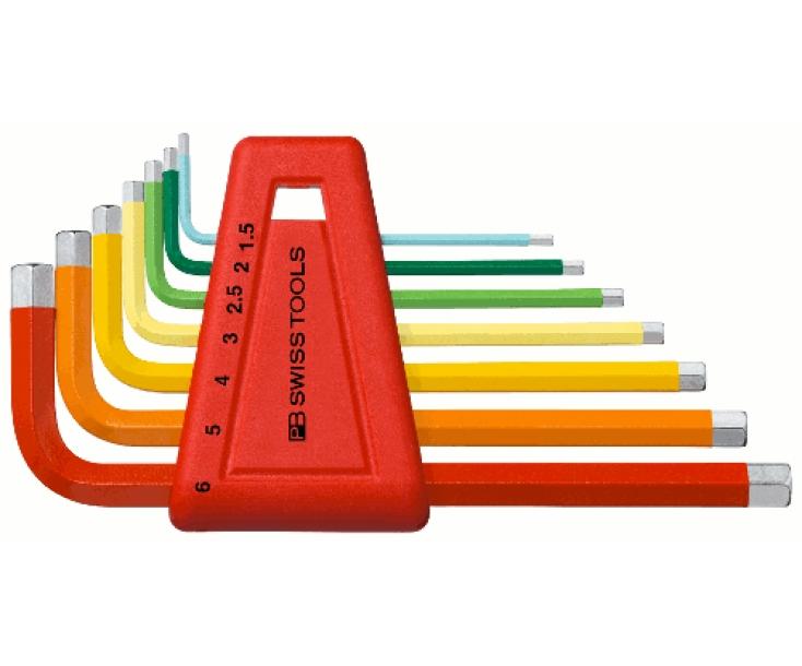 Набор штифтовых шестигранных ключей HEX PB Swiss Tools PB 210.H-6 RB 7 шт.